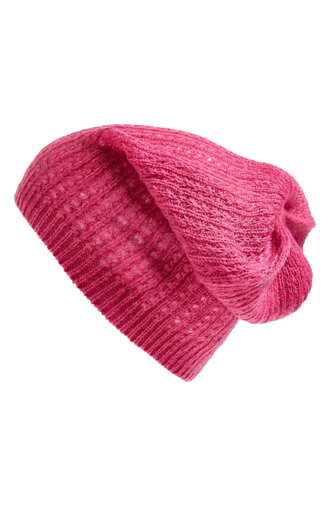 Alternate Image 1 Selected - Tildon Waffle Knit Slouch Hat