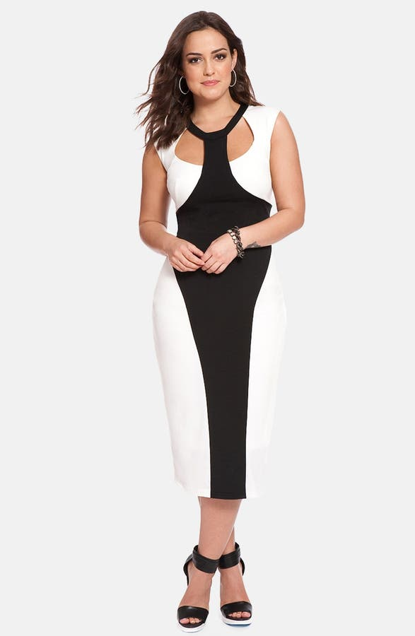 Eloquii Colorblock Midi Dress Plus Size Nordstrom Exclusive