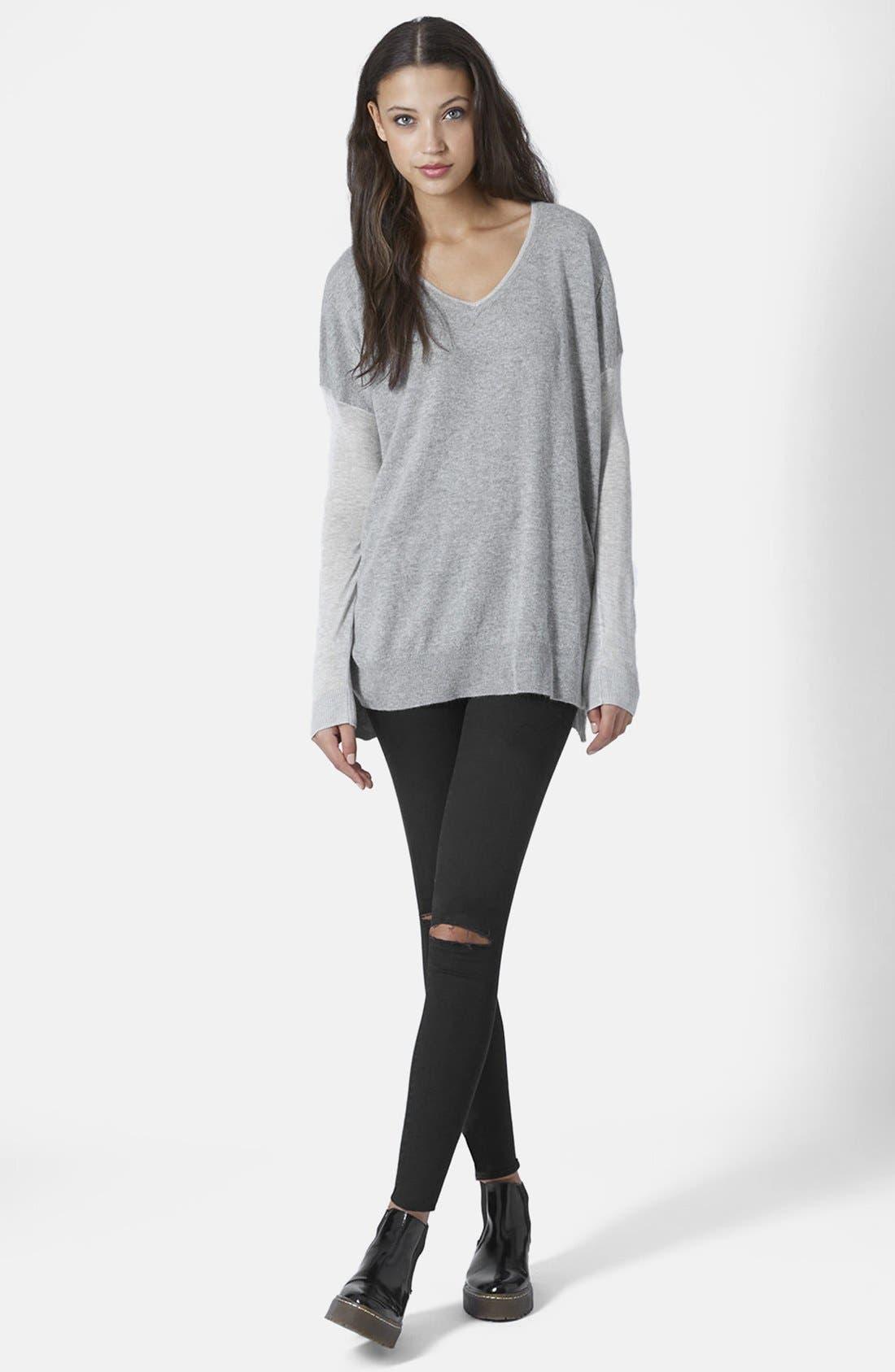 Alternate Image 4  - Topshop V-Neck Sweater