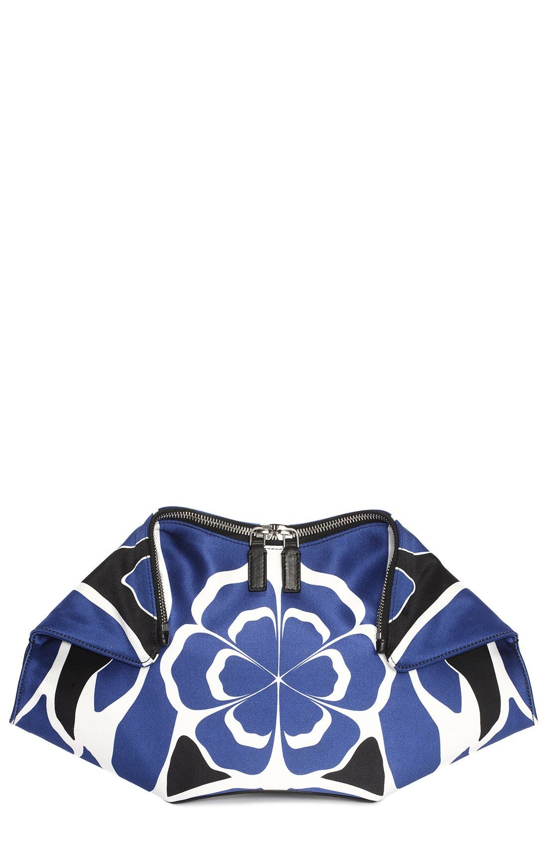 Alternate Image 1 Selected - Alexander McQueen 'De Manta' Silk Clutch