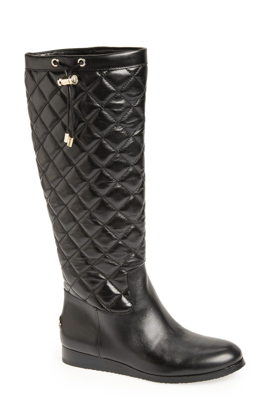 Alternate Image 1 Selected - MICHAEL Michael Kors 'Lizzie' Quilted Leather Knee High Boot (Women)