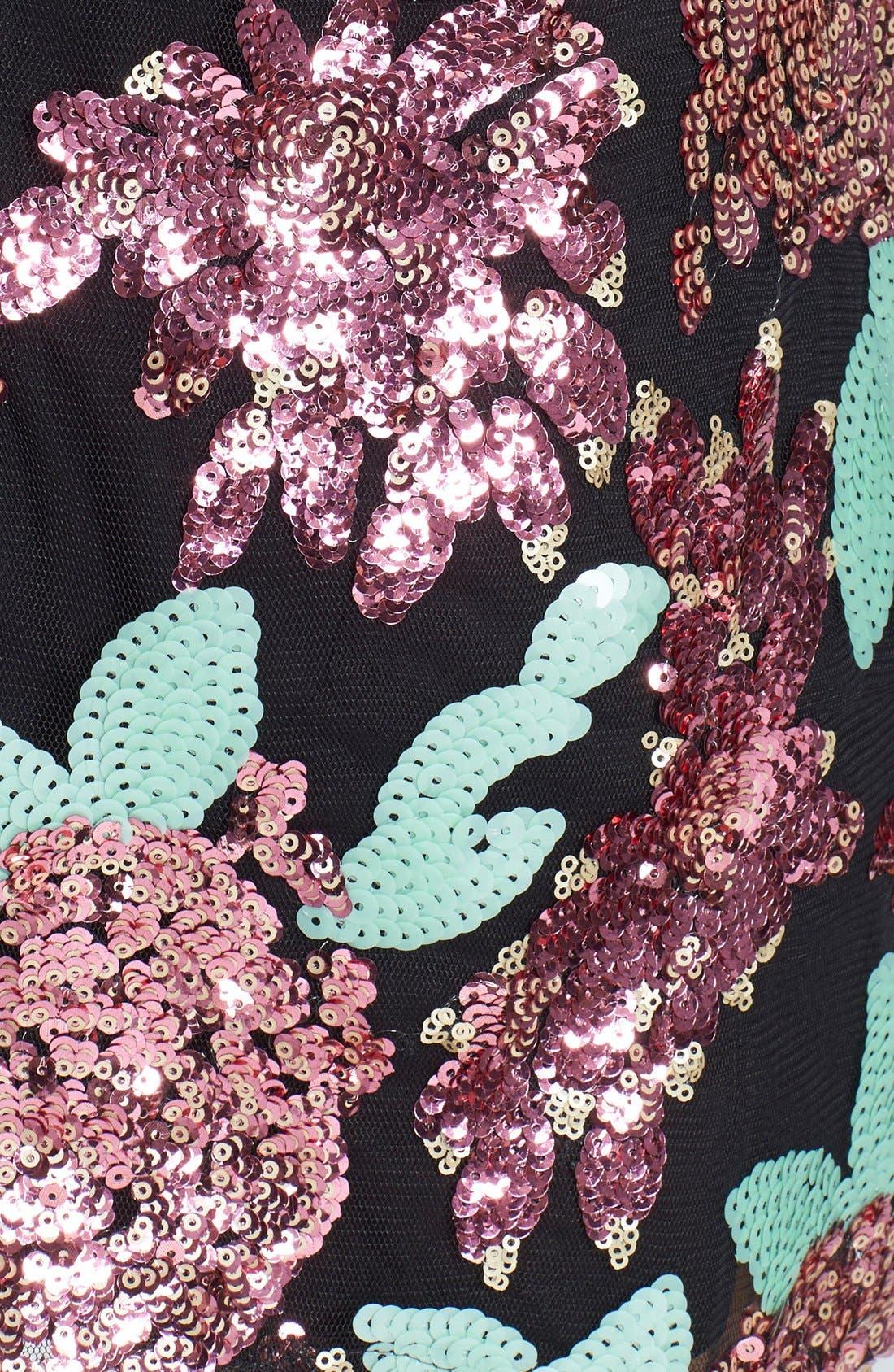Alternate Image 3  - Glamorous Sequin Flower Shift Dress