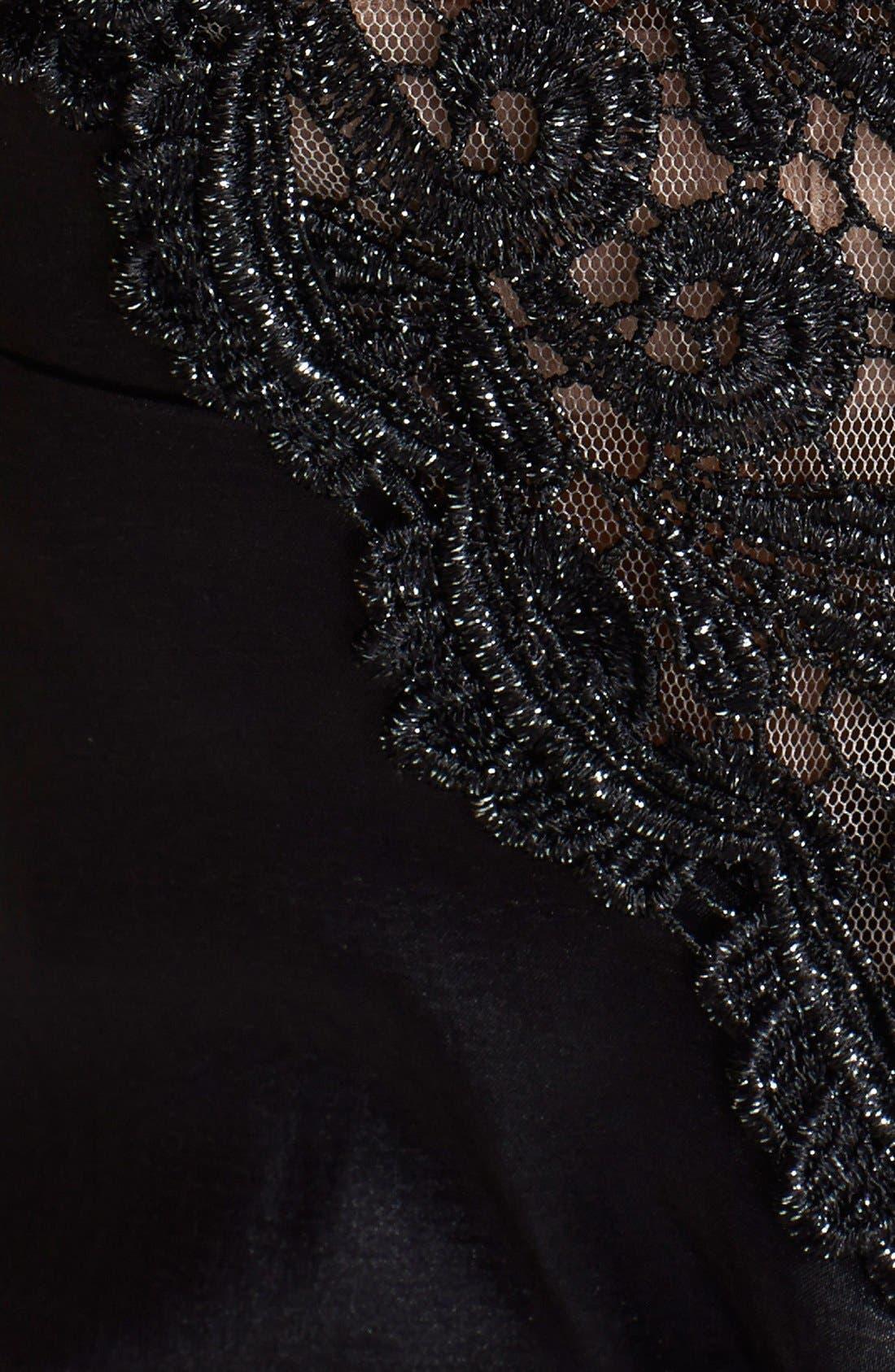 Alternate Image 3  - Xscape Lace & Taffeta Mermaid Gown (Regular & Petite)