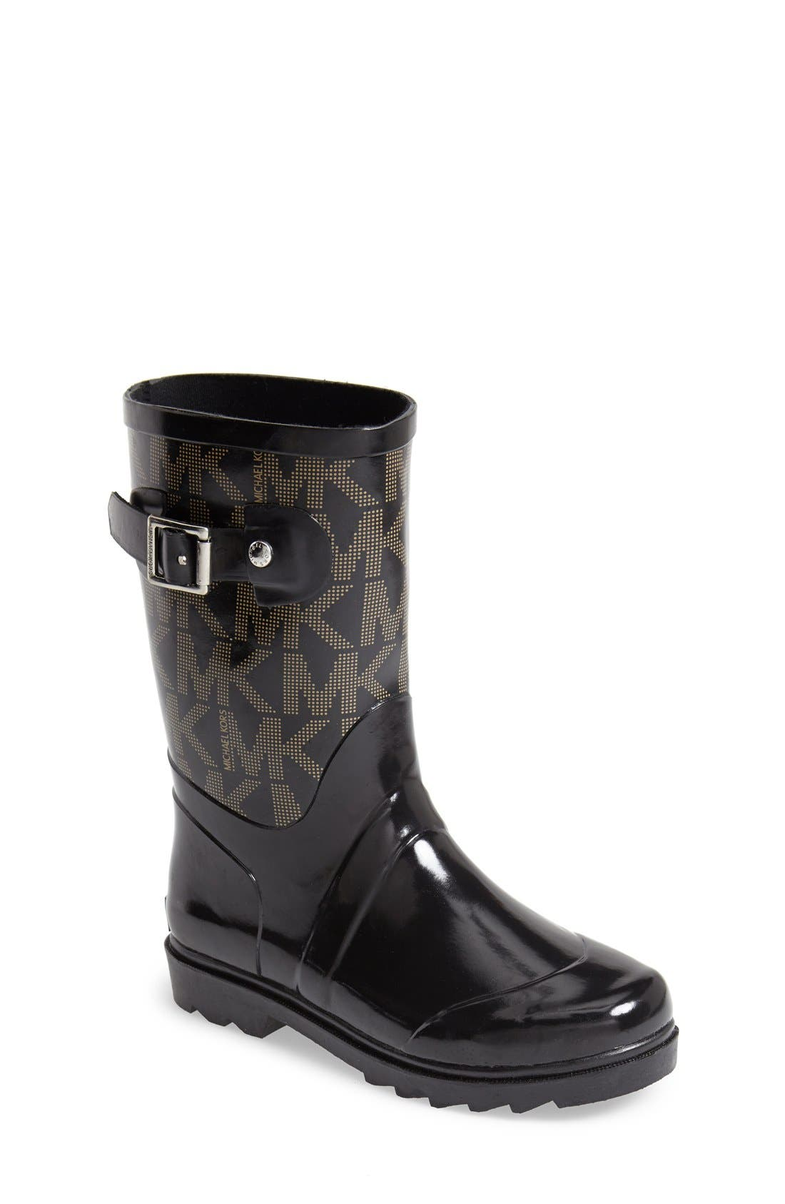 MICHAEL Michael Kors 'Daisy Logo' Rain Boot (Little Kid & Big Kid)