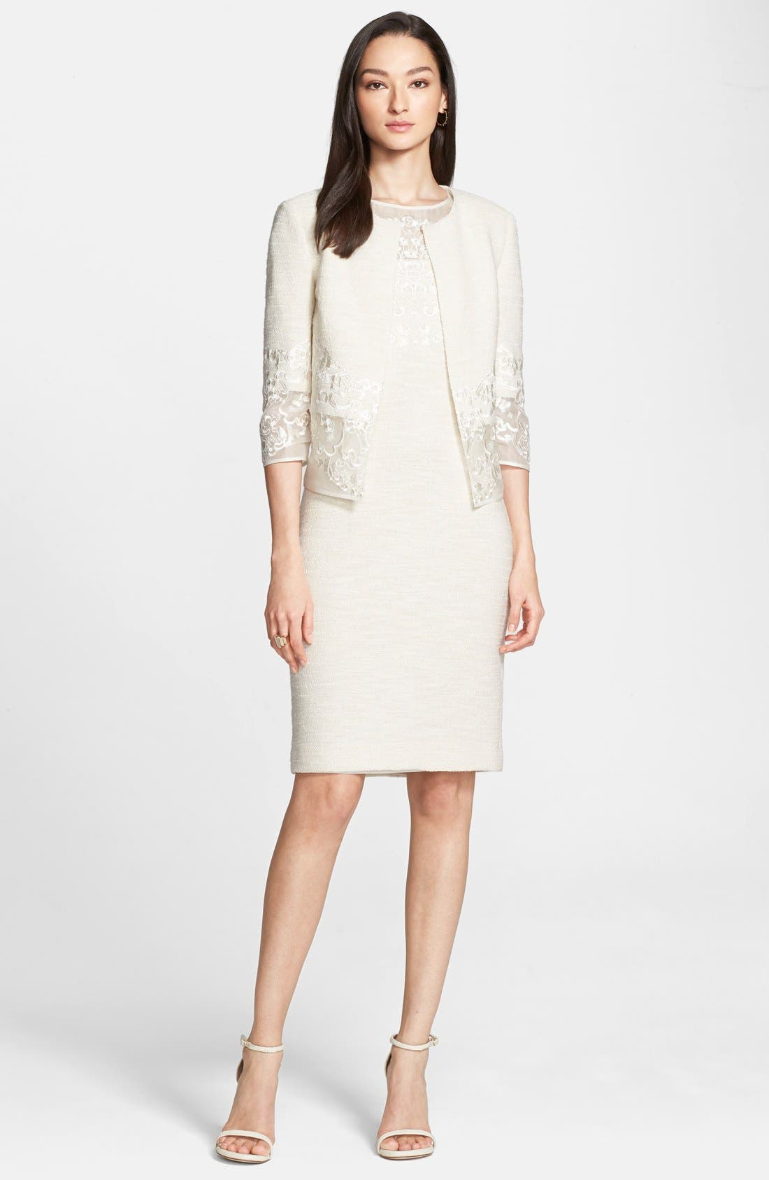 Alternate Image 2  - St. John Collection Sparkle Shantung Knit Dress