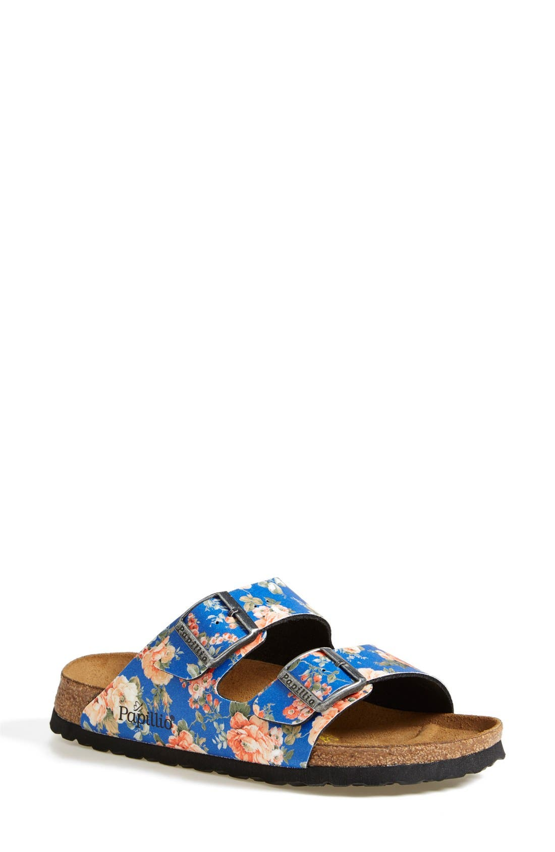 Alternate Image 1 Selected - Birkenstock 'Arizona' Floral Print Sandal (Women)
