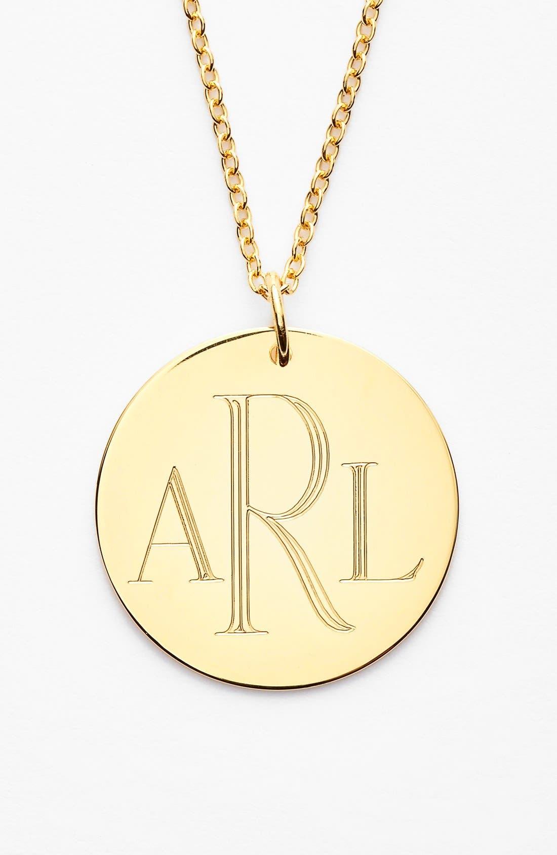 Personalized Reversible Pendant Necklace,                             Alternate thumbnail 2, color,                             Gold