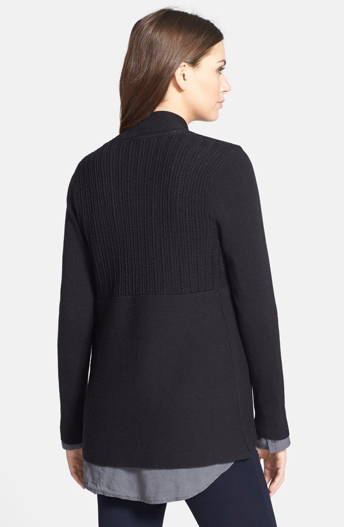 Alternate Image 2  - Eileen Fisher Textured Wool Cardigan (Petite)