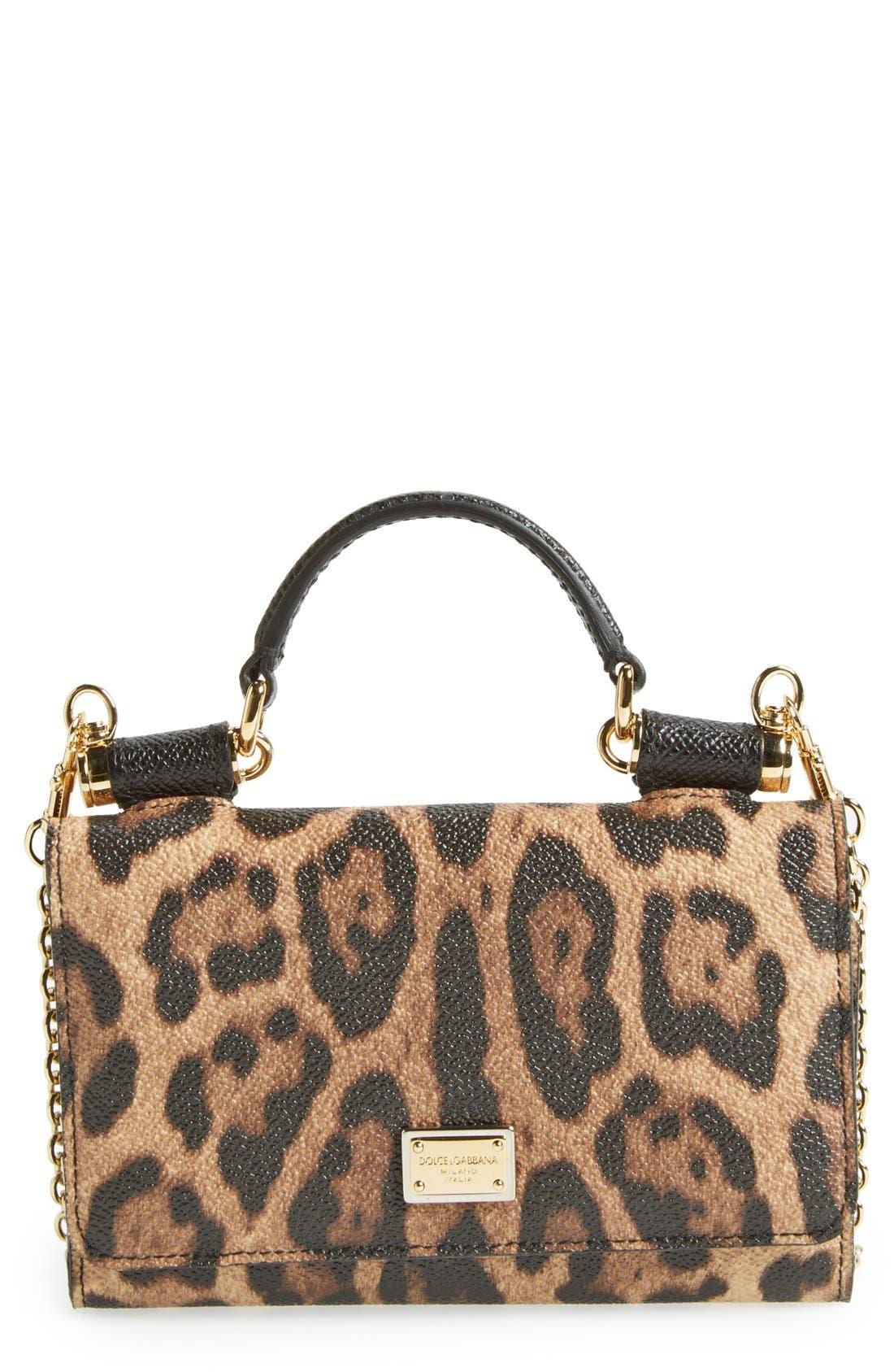 Alternate Image 1 Selected - Dolce&Gabbana Leopard Print Smartphone Wallet