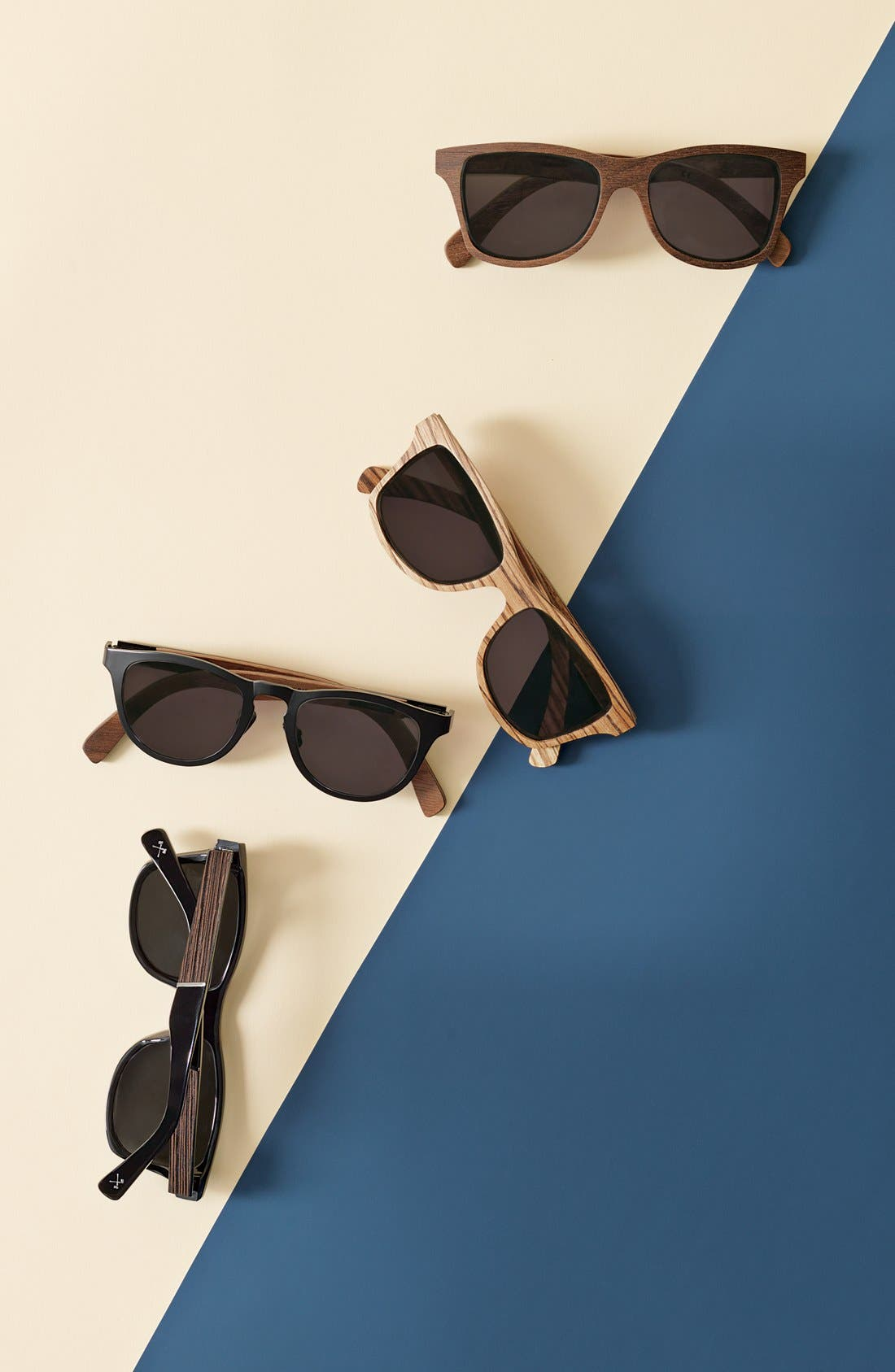 'Canby' 54mm Wood Sunglasses,                             Alternate thumbnail 3, color,