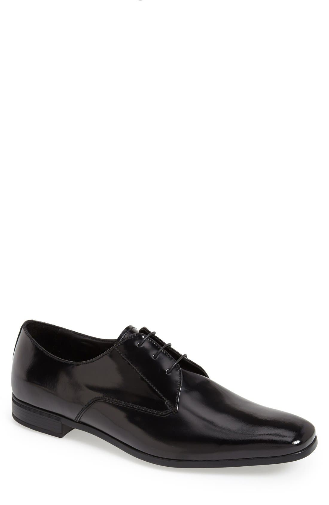 Spazzalato Plain Toe Derby,                         Main,                         color, Black
