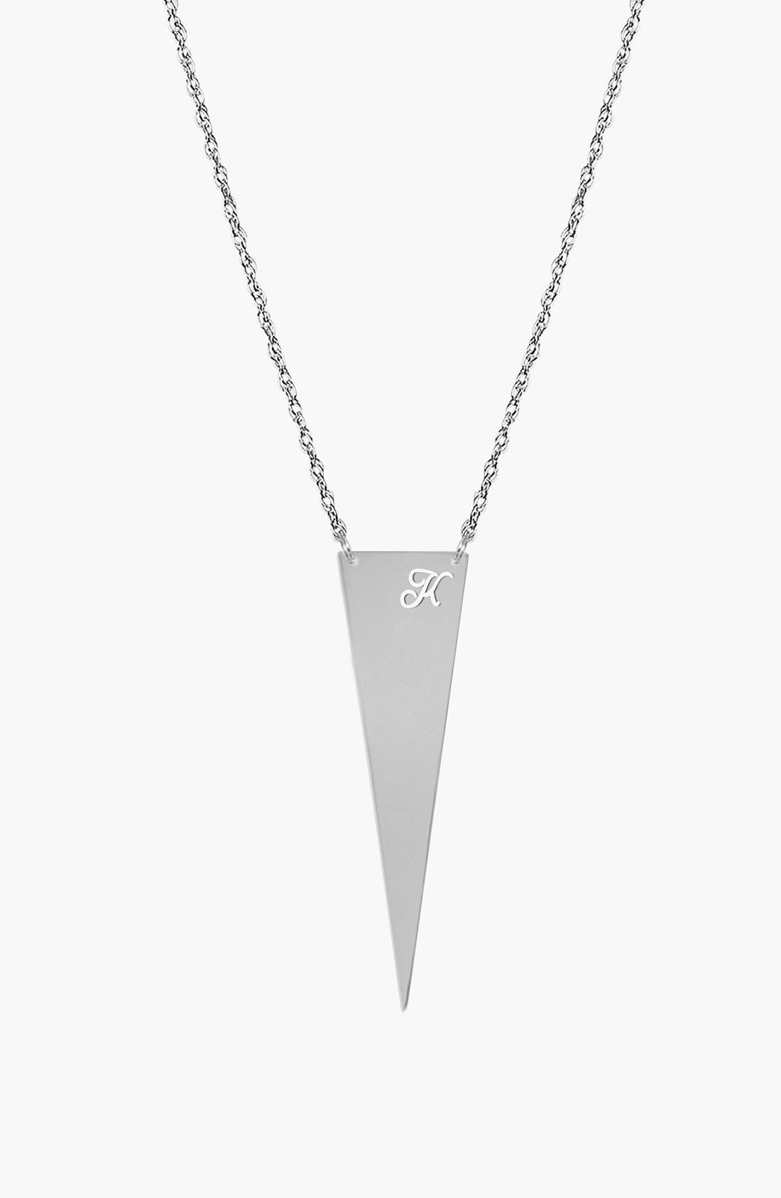 Main Image - Jane Basch Designs Personalized Initial Pendant Necklace