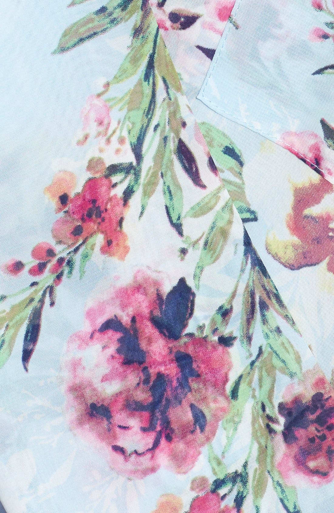 Alternate Image 3  - KUT from the Kloth Floral Print Faux Wrap Top