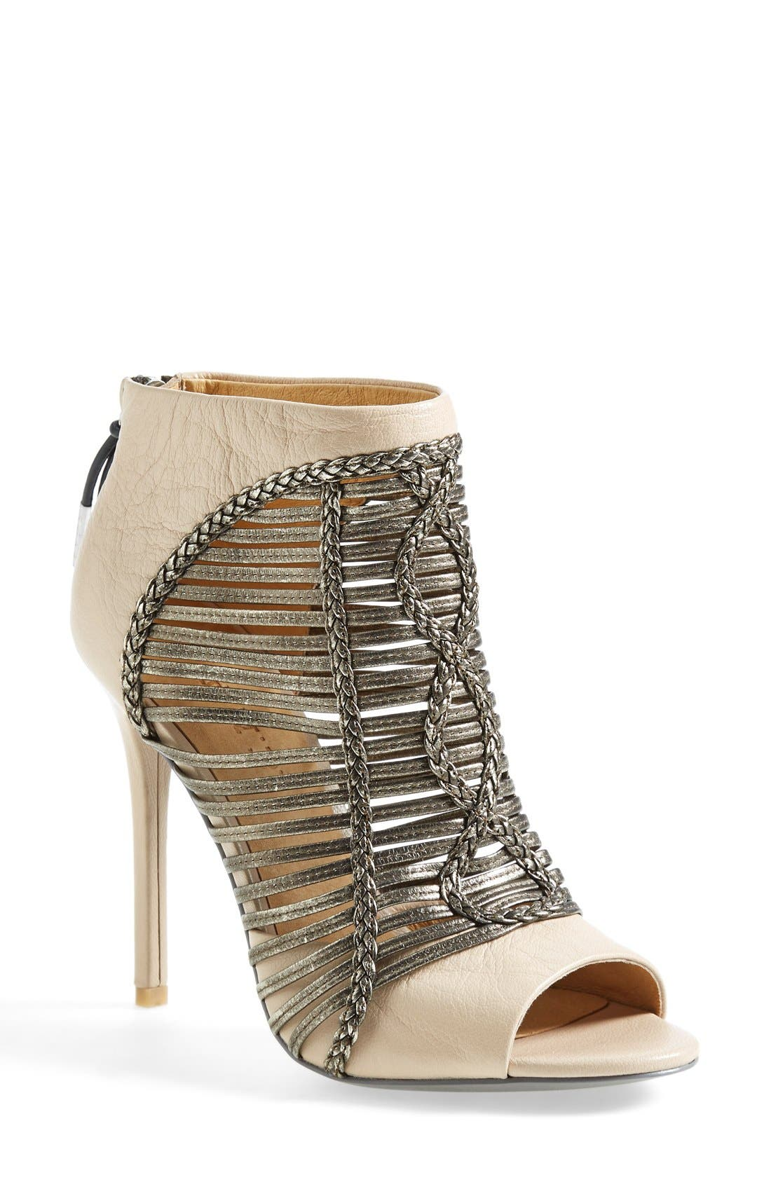 Alternate Image 1 Selected - L.A.M.B. 'Kacee' Peeptoe Bootie (Women)