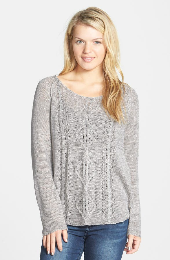 Blu Pepper Cable Knit Sweater Juniors Nordstrom