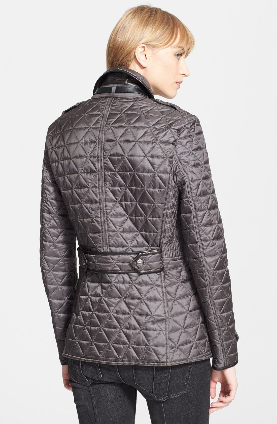 Alternate Image 2  - Burberry Brit 'Lunesbury' Leather Trim Quilted Jacket
