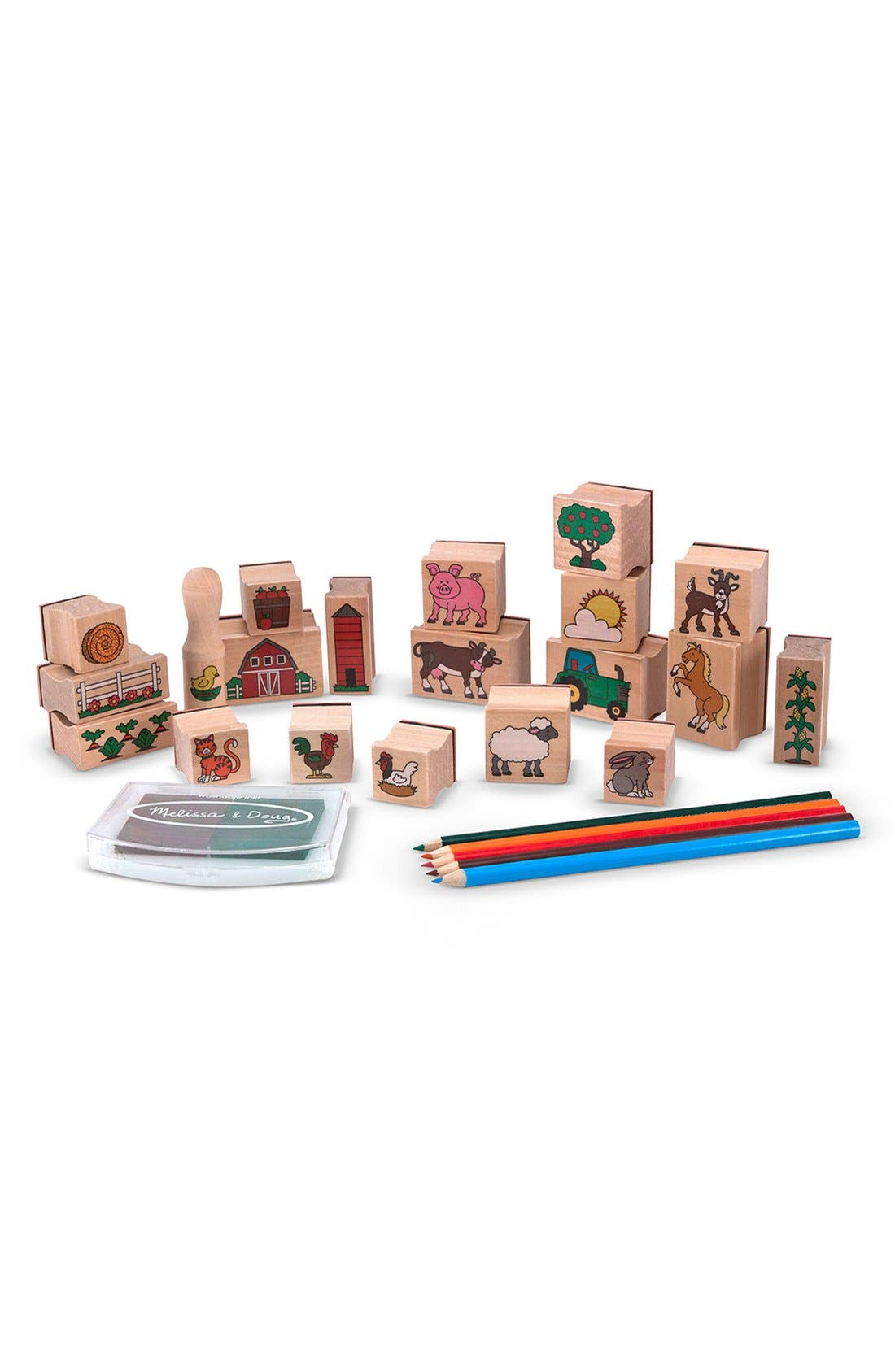 Alternate Image 2  - Melissa & Doug 'Stamp-A-Scene - Farm' Stamp Set
