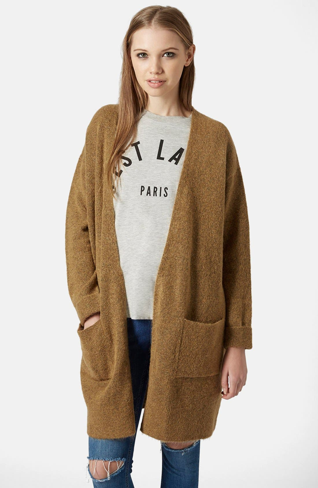 Alternate Image 1 Selected - Topshop Open Front Long Cardigan