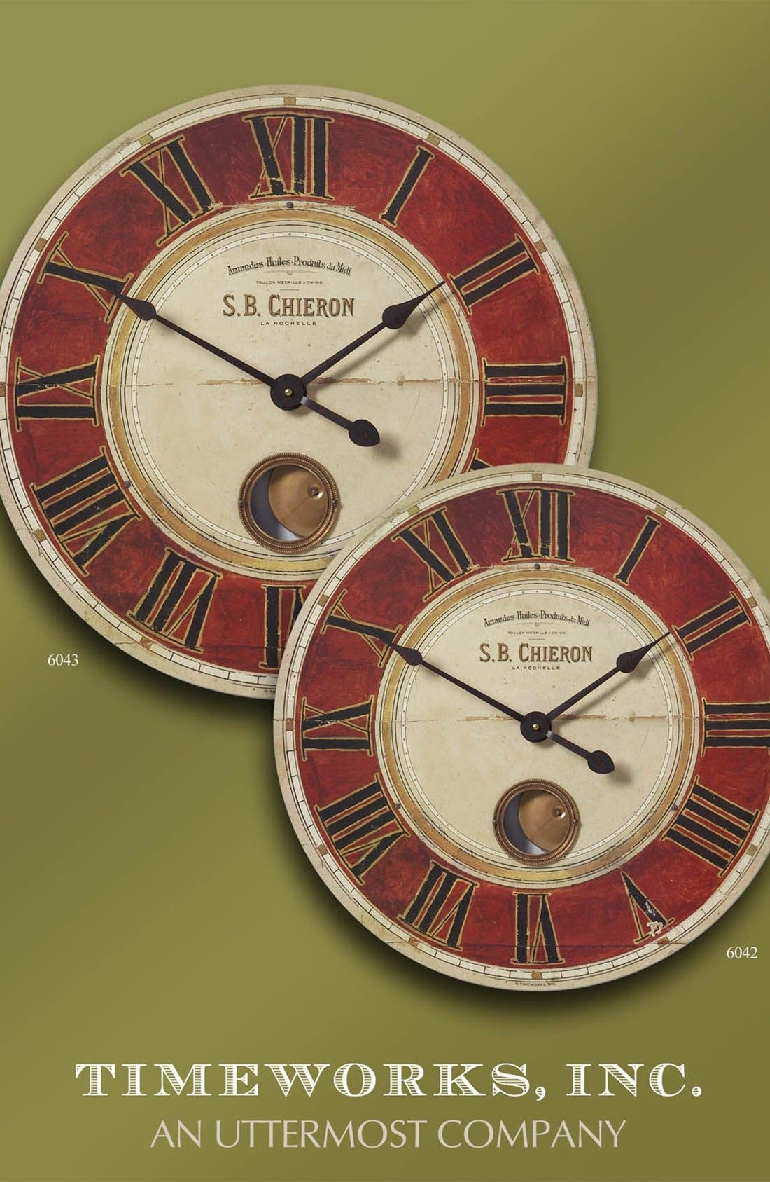 'Chieron' Wall Clock,                             Alternate thumbnail 3, color,                             Red