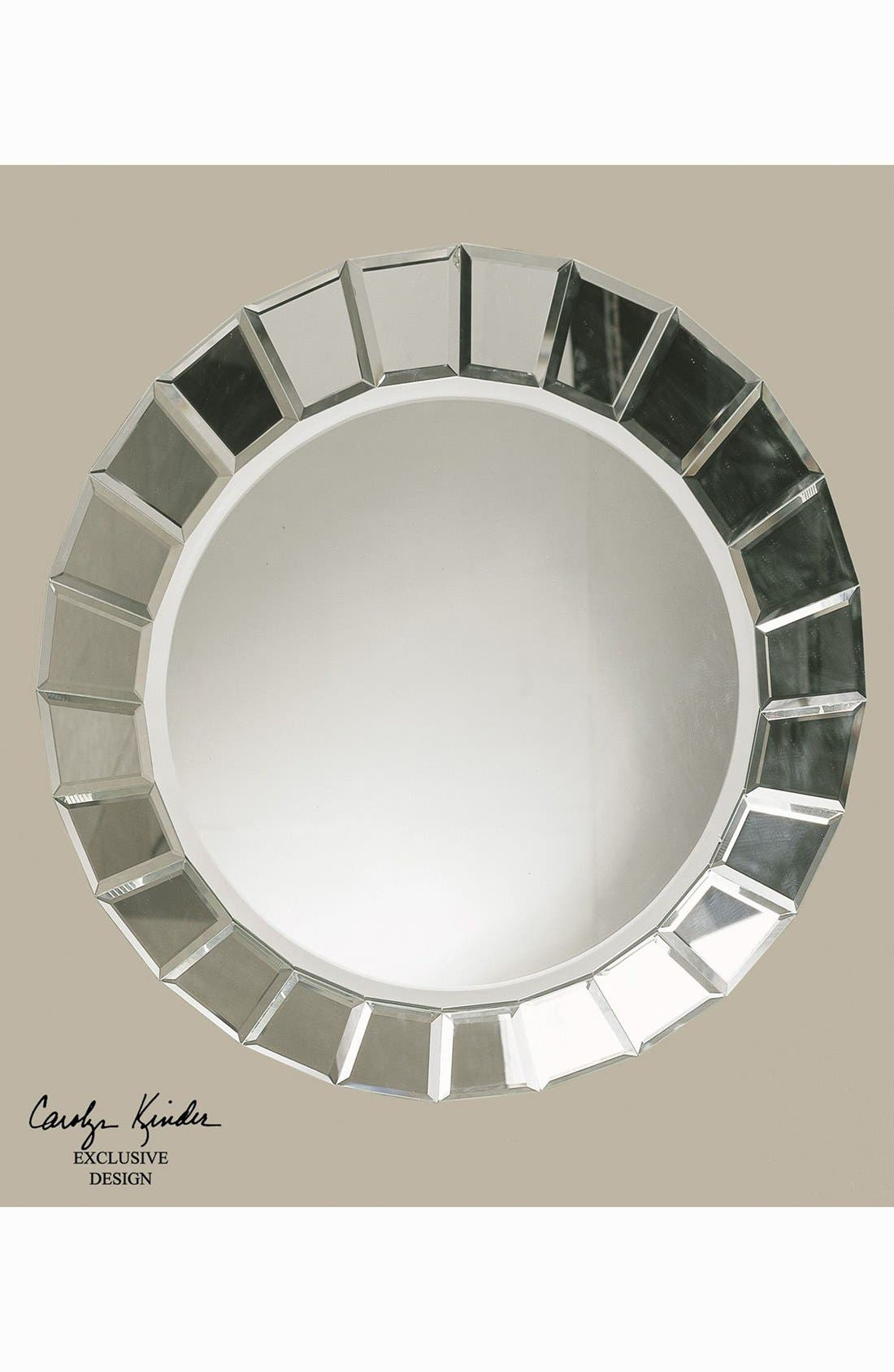 'Fortune' Round Mirror,                             Alternate thumbnail 3, color,                             White