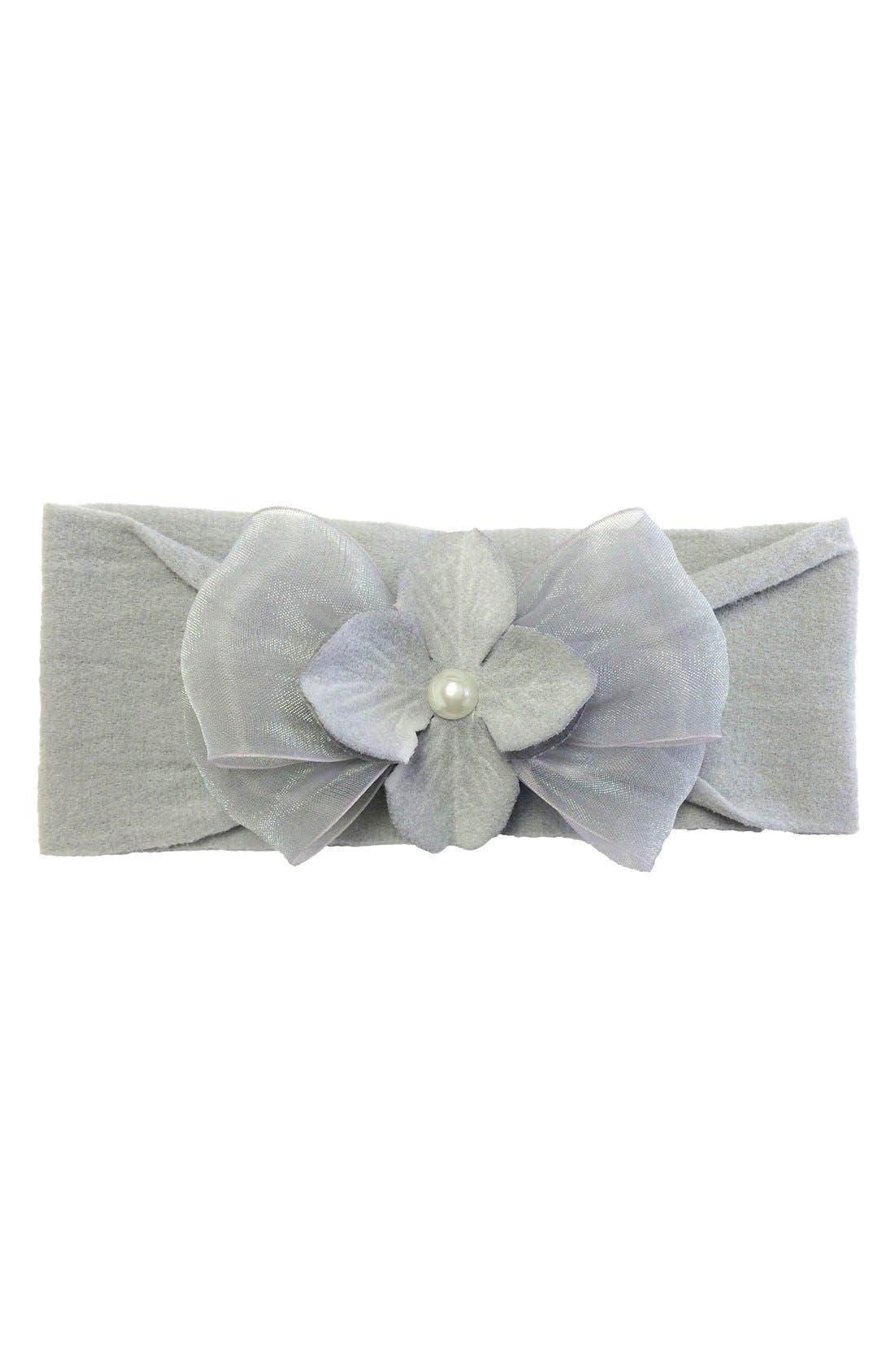 Pearly Headband,                             Main thumbnail 1, color,                             Grey/ Grey