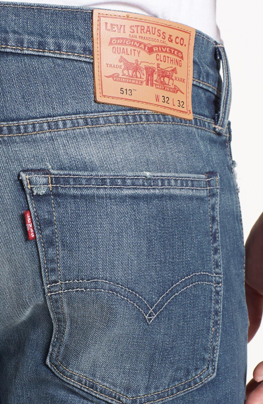 Alternate Image 4  - Levi's® '513™' Slim Fit Jeans (Blue Canyon)