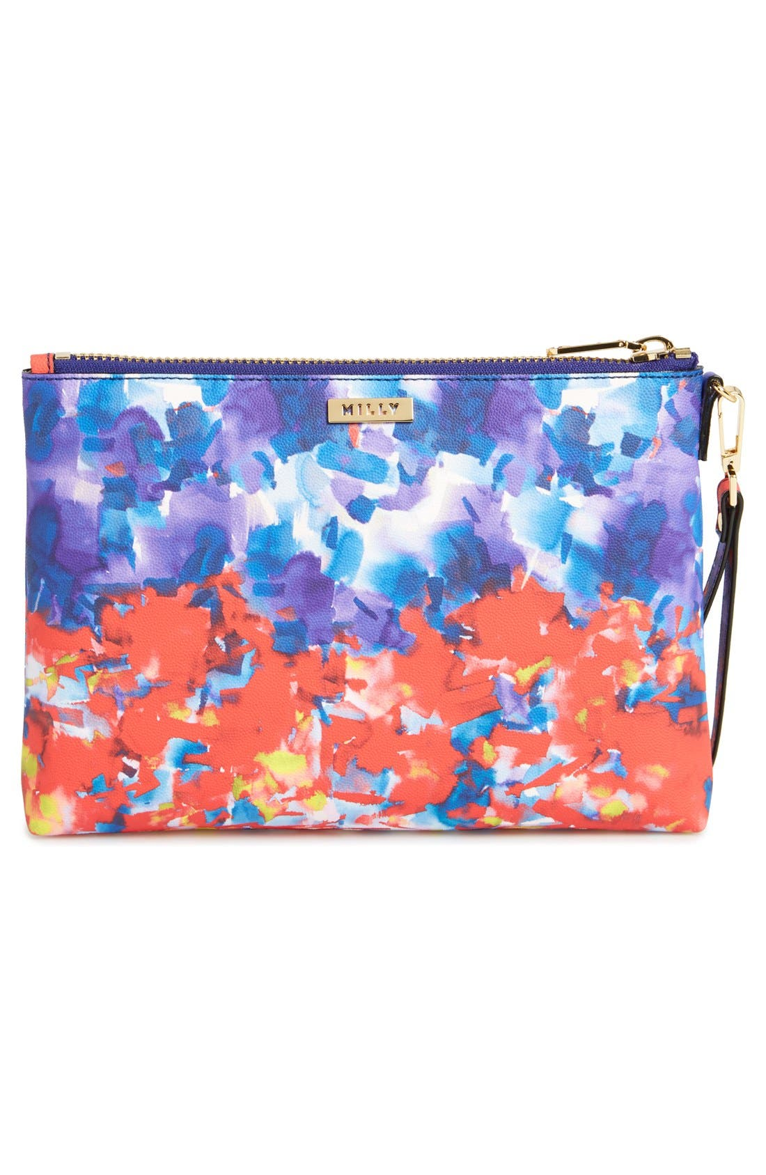 Alternate Image 4  - Milly 'Watercolor' Faux Leather Wristlet Clutch