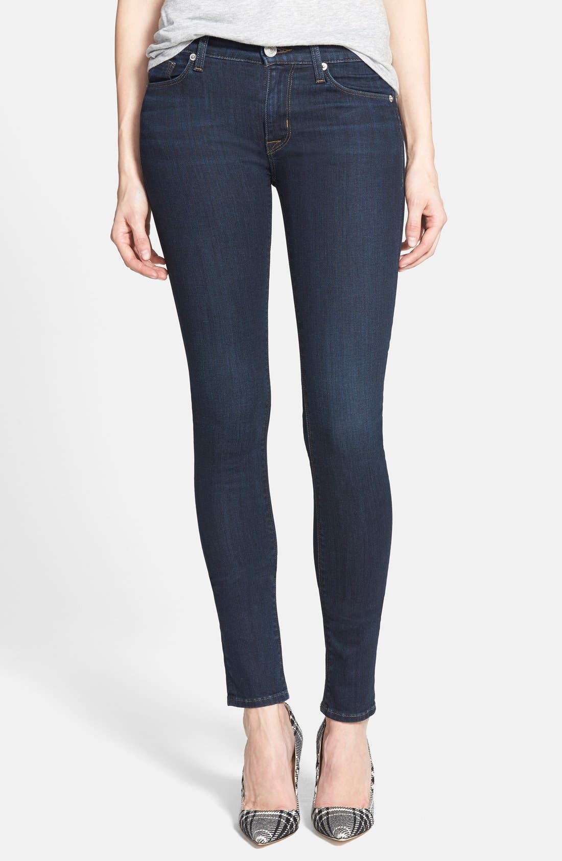 Alternate Image 1 Selected - Hudson Jeans Mid Rise Skinny Jeans (Problem Child)