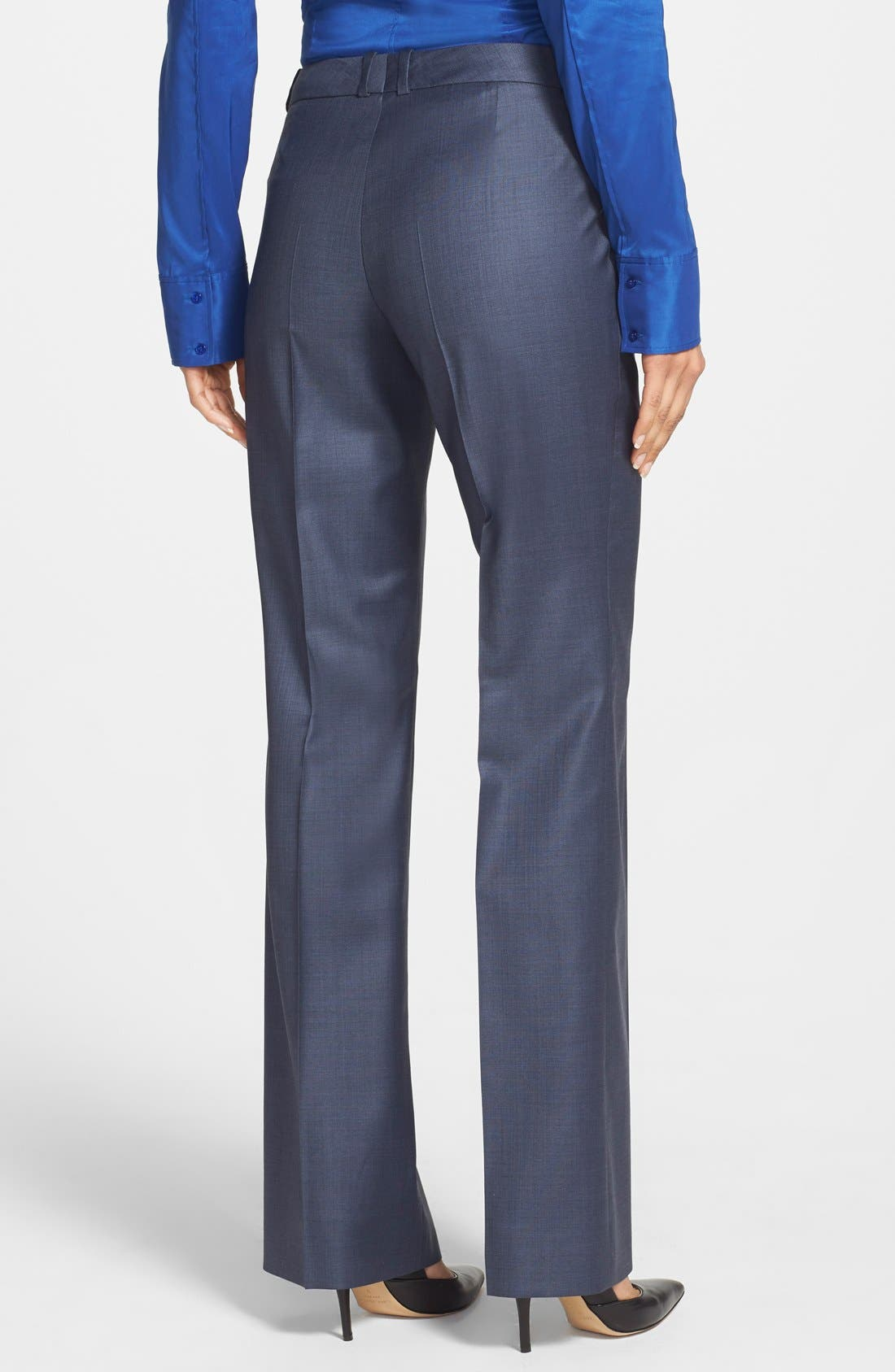 'Temuna' Wool Blend Suiting Trousers,                             Alternate thumbnail 2, color,                             Electric Blue Fantasy Melange
