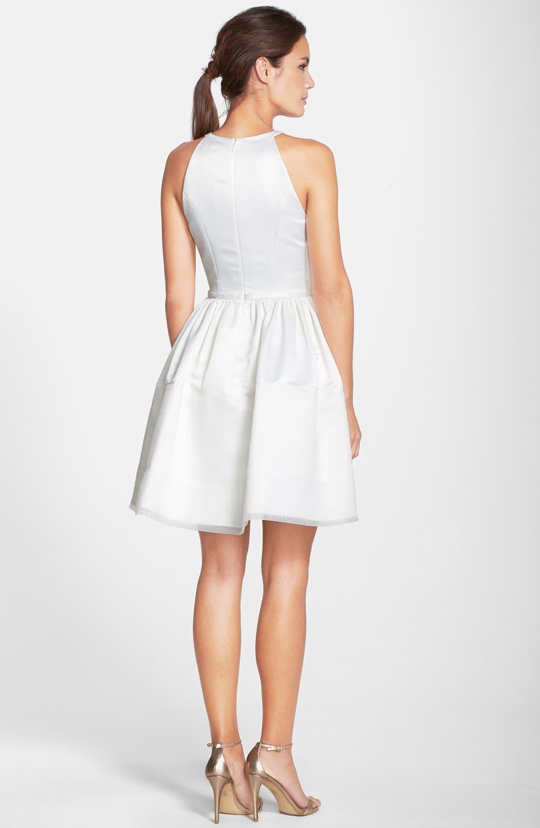 Alternate Image 2  - ERIN erin fetherston 'Savannah' Satin Fit & Flare Dress