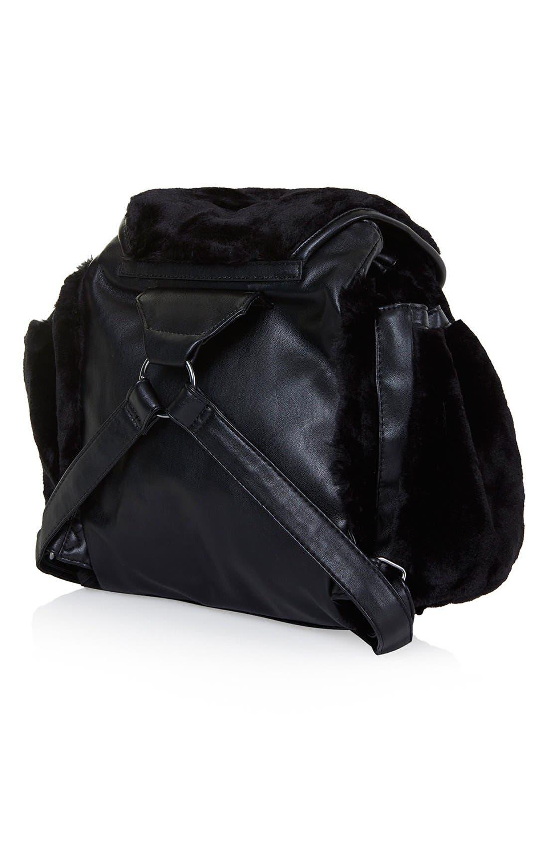 Alternate Image 4  - Topshop Faux Fur Backpack