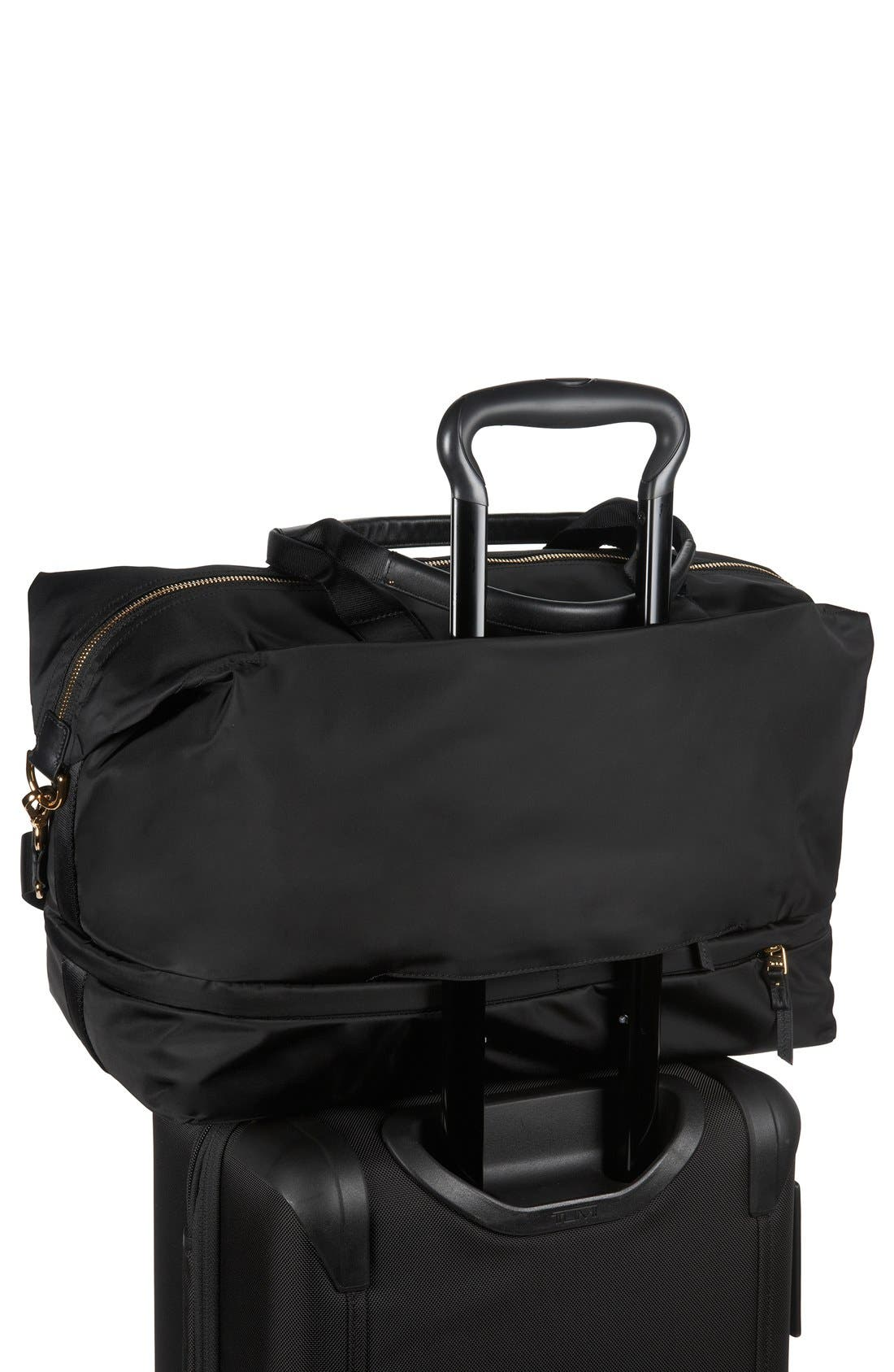 Durban Expandable Duffel Bag,                             Alternate thumbnail 4, color,                             Black