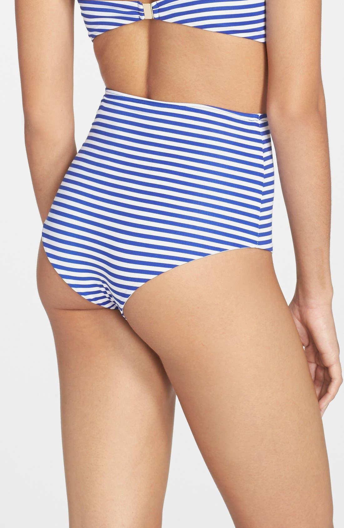 Alternate Image 2  - Zinke 'Marlow' Stripe High Waist Bikini Bottoms