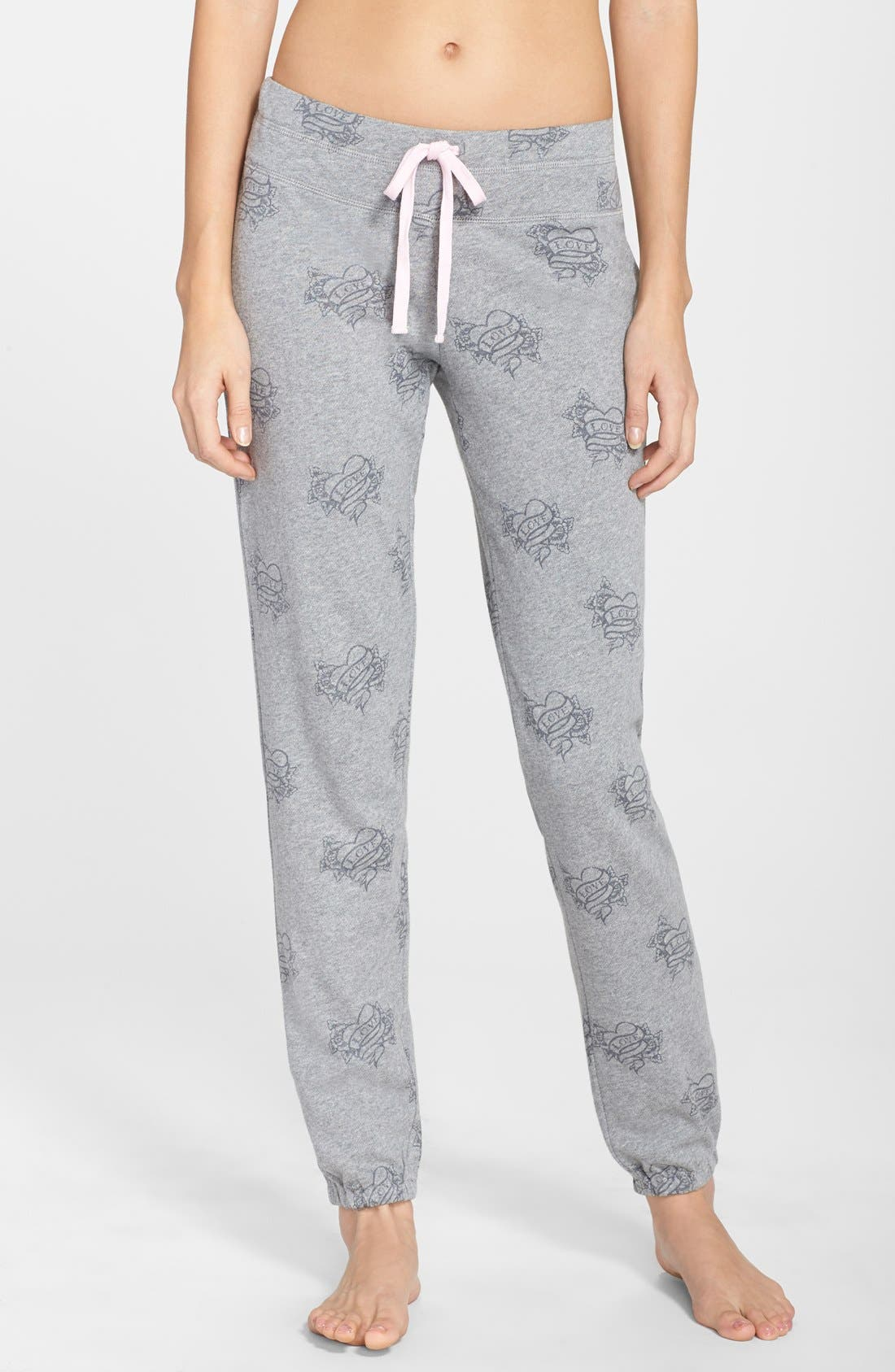 Alternate Image 1 Selected - PJ Salvage 'Love More' Tattoo Print Sweatpants