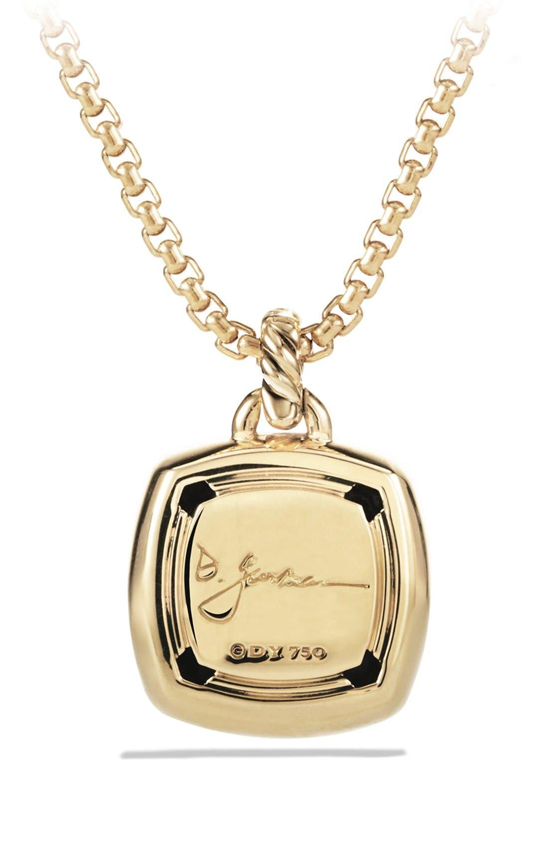 Alternate Image 2  - David Yurman 'Albion' Pendant with Lemon Citrine and Diamonds in Gold