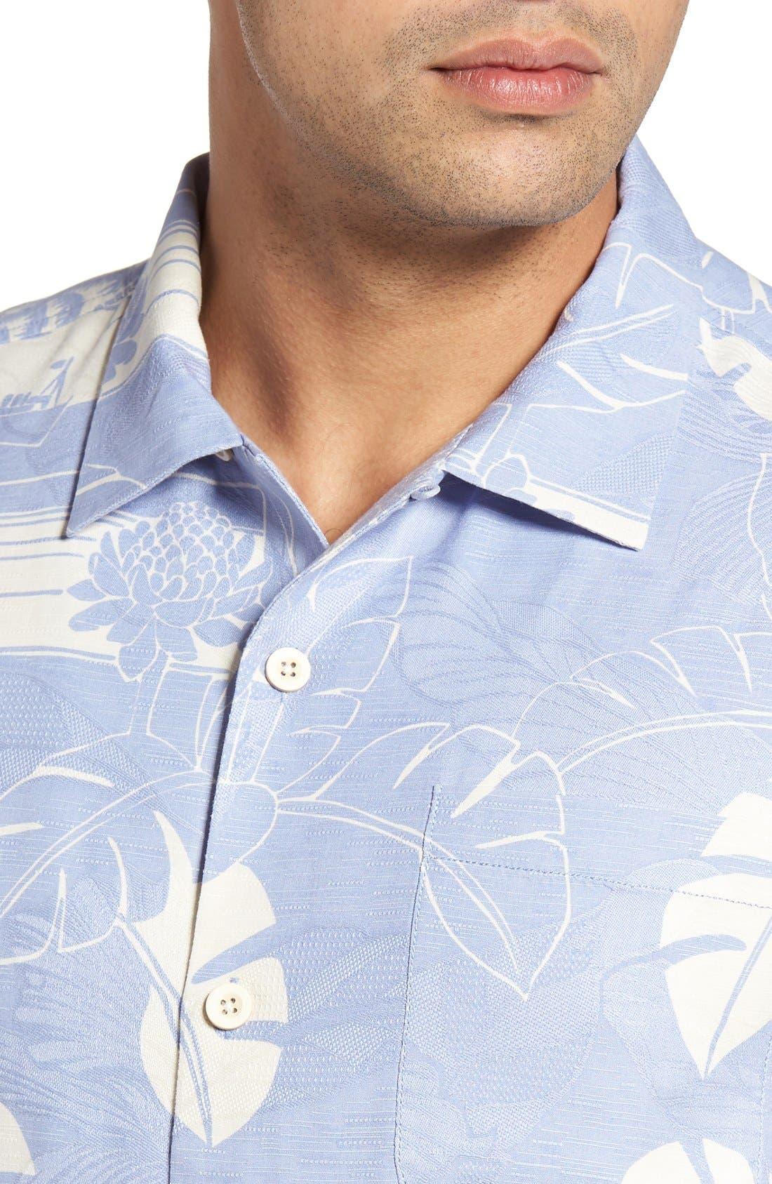 Alternate Image 4  - Tommy Bahama Bon Voyage Isle Silk Shirt