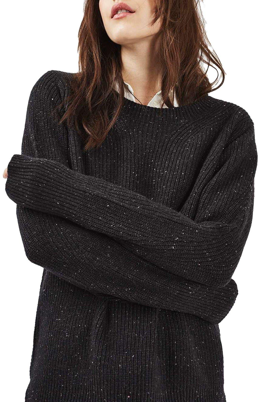 Alternate Image 1 Selected - Topshop Fisherman Rib Sweater
