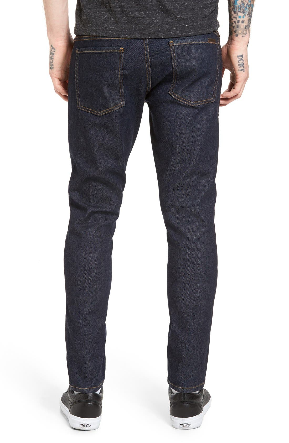 Alternate Image 2  - Fidelity Denim Vantage Skinny Fit Jeans (Halo Rinse)
