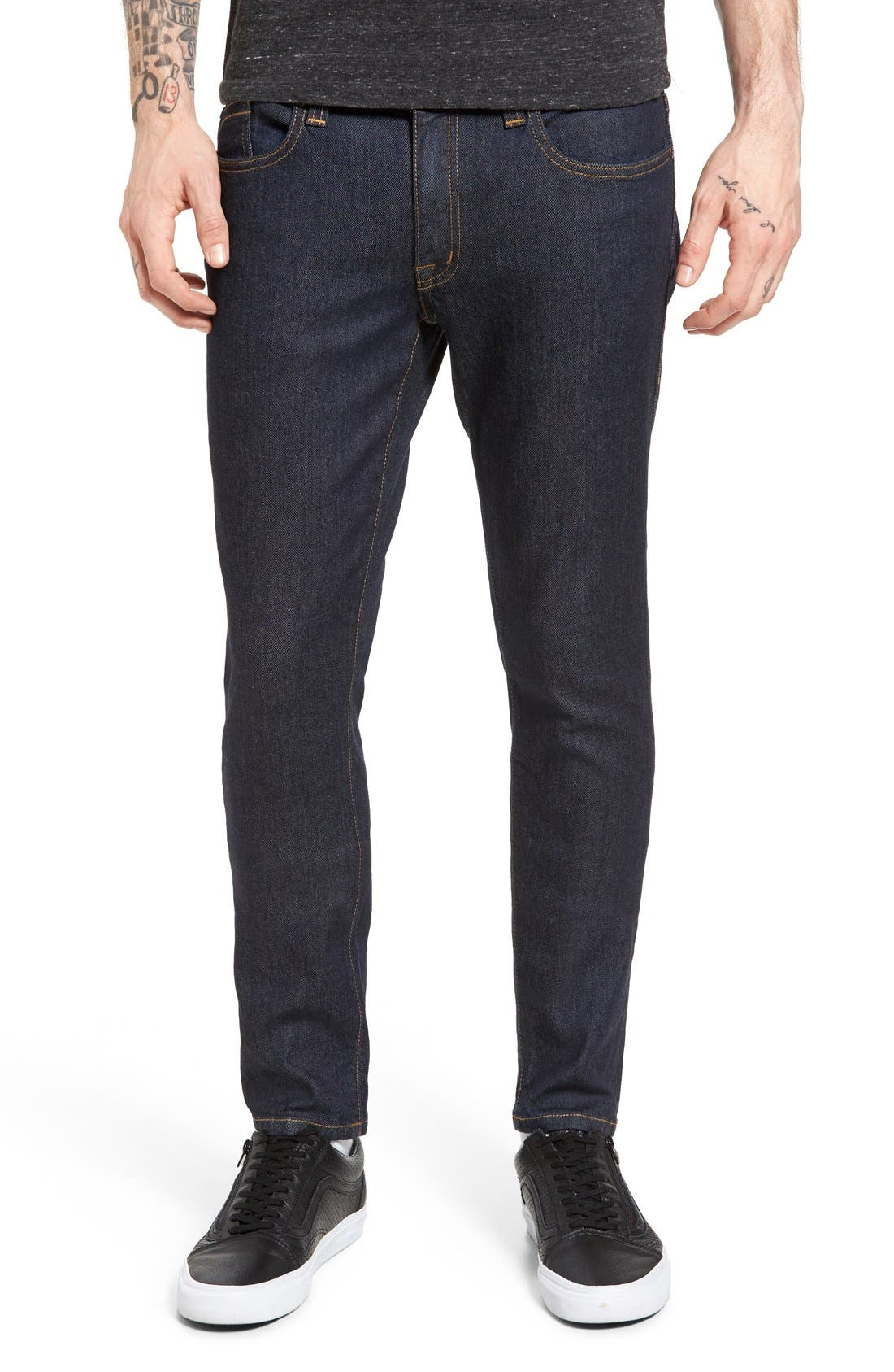 Alternate Image 1 Selected - Fidelity Denim Vantage Skinny Fit Jeans (Halo Rinse)