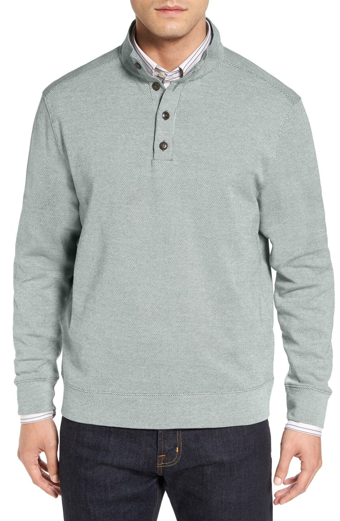 Cutter & Buck 'Quinalt' Mock Neck Pullover (Big & Tall)