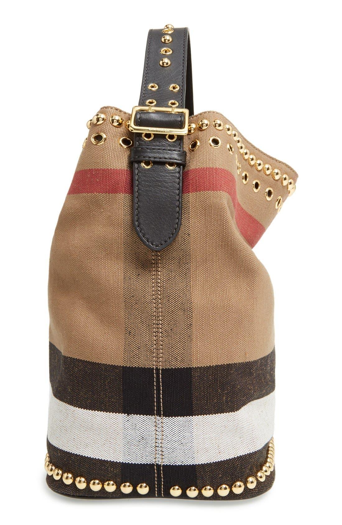 Alternate Image 3  - Burberry Medium Ashby Studded Canvas Bucket Bag