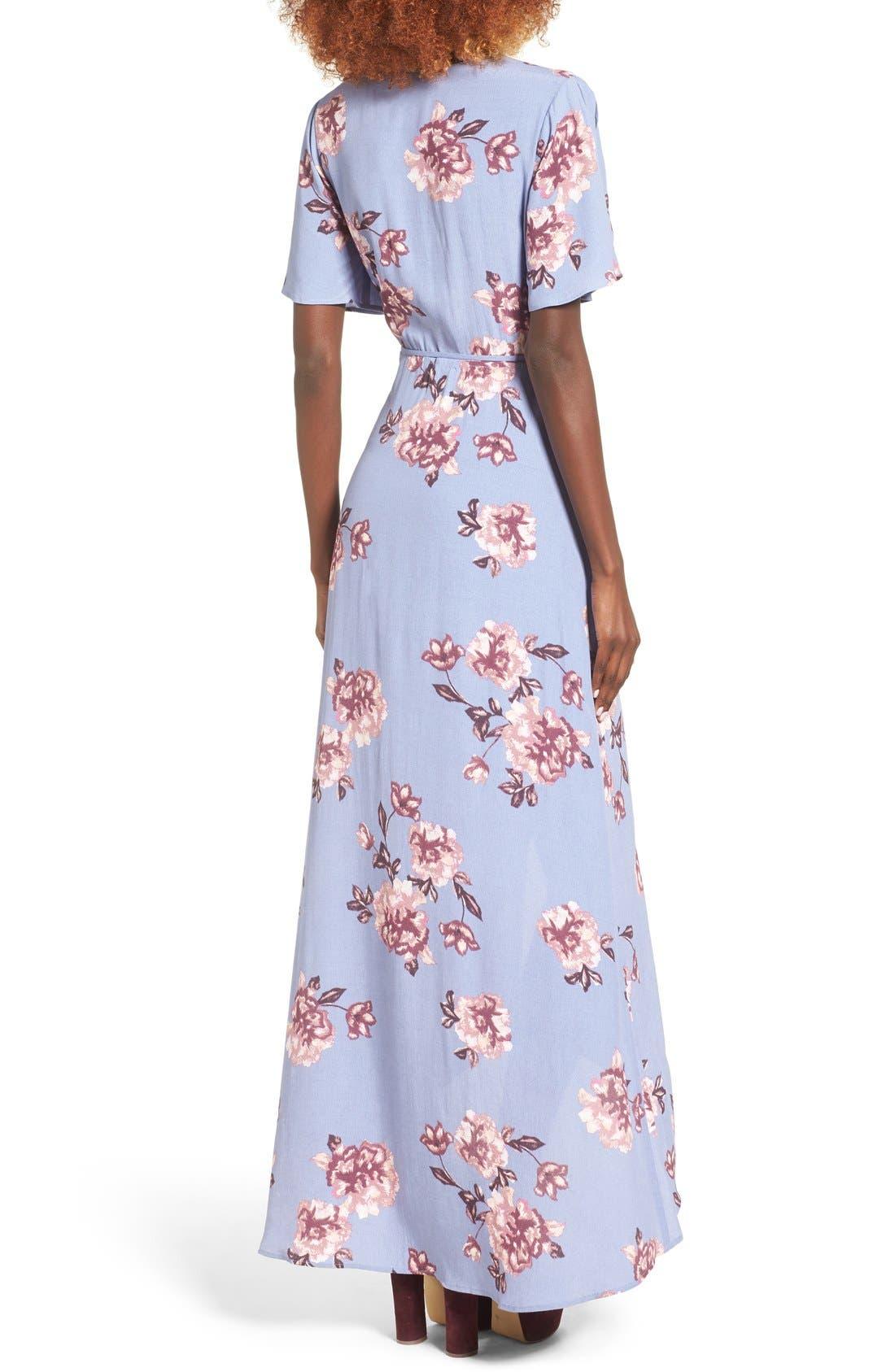 Alternate Image 3  - ASTR Selma Floral Print Wrap Dress