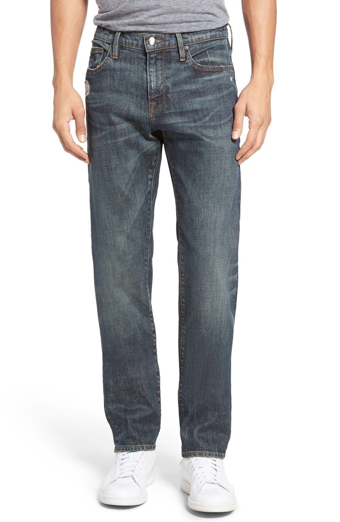Main Image - FRAME L'Homme Slim Fit Jeans (Fort Davis)