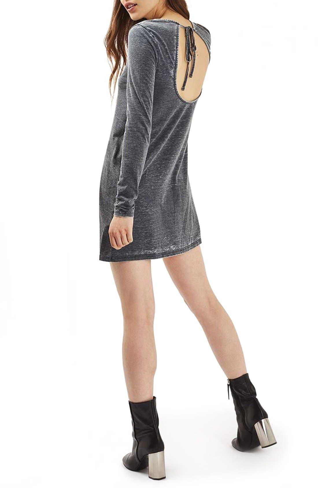 Alternate Image 2  - Topshop Open Back Tunic Dress