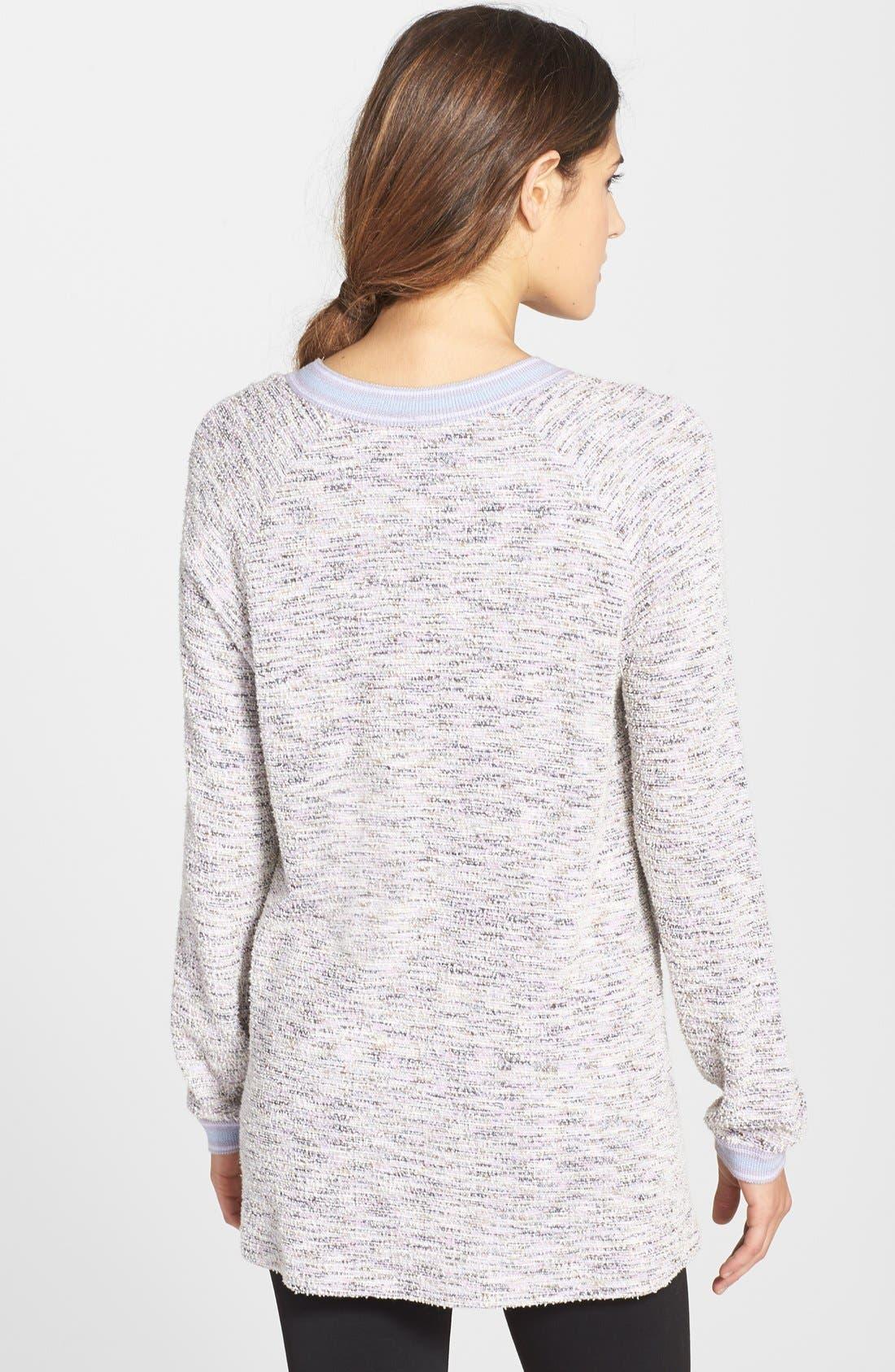 Alternate Image 2  - Only Hearts Oversize Bouclé Knit Sweatshirt