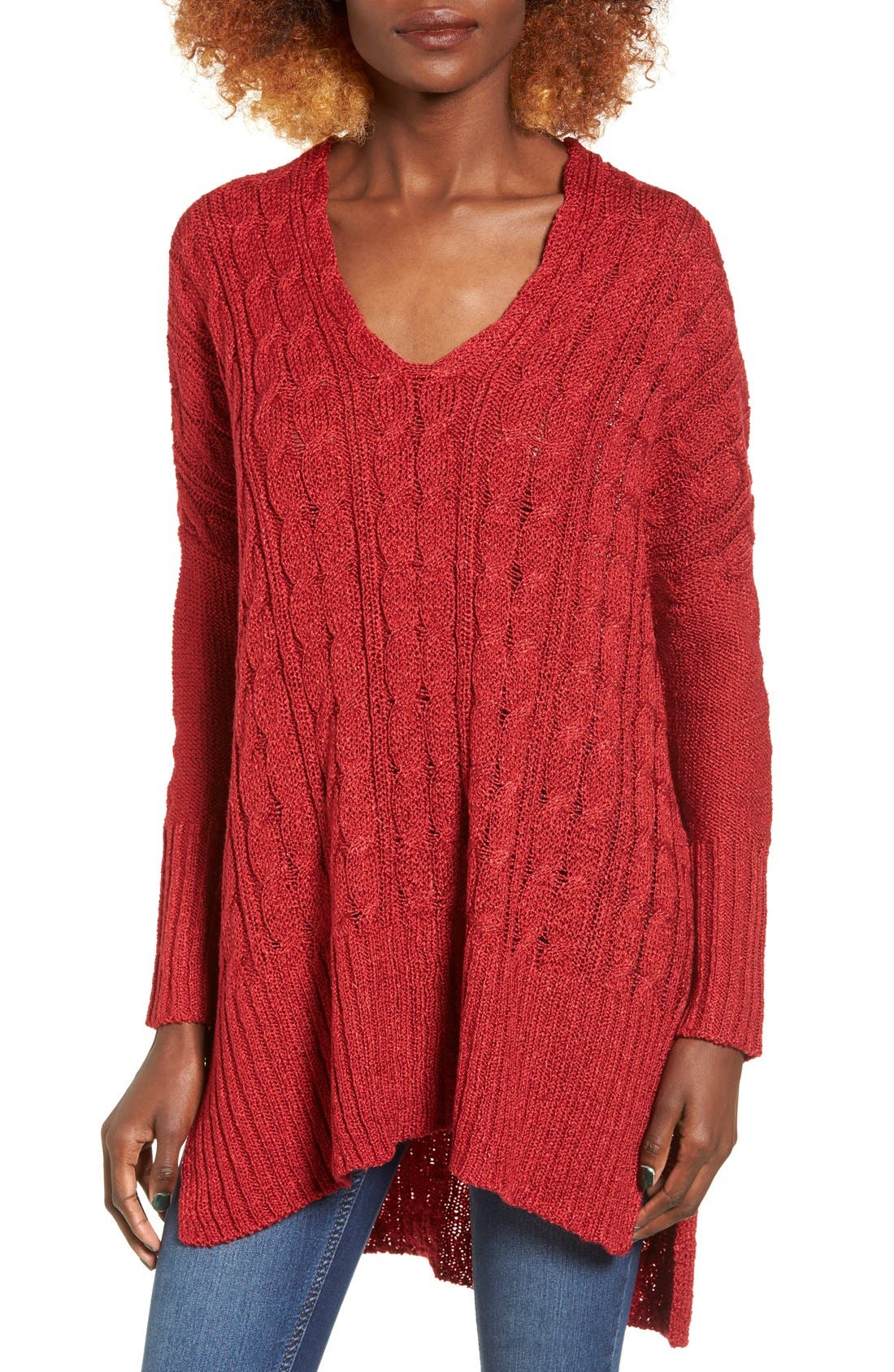 Alternate Image 1 Selected - Love by Design Cable Knit Pullover