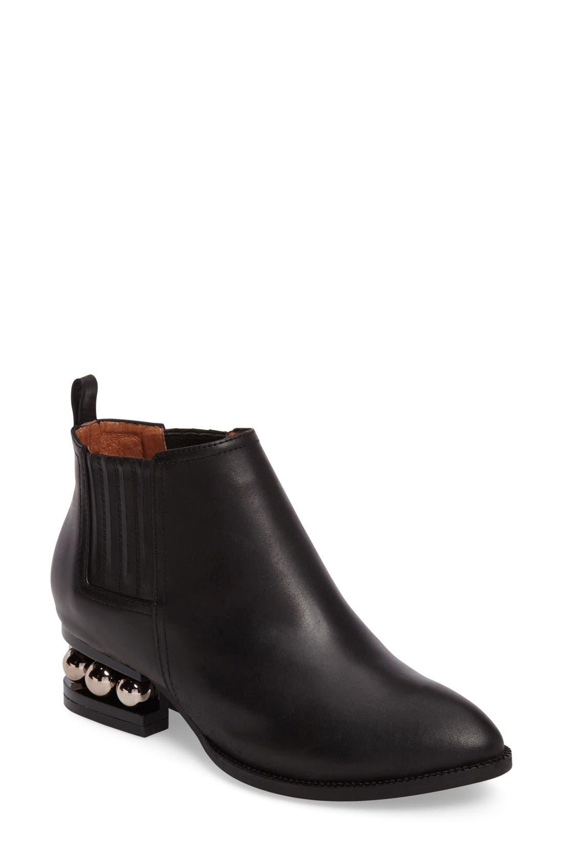 Metcalf Almond Toe Bootie,                         Main,                         color, Black Matte