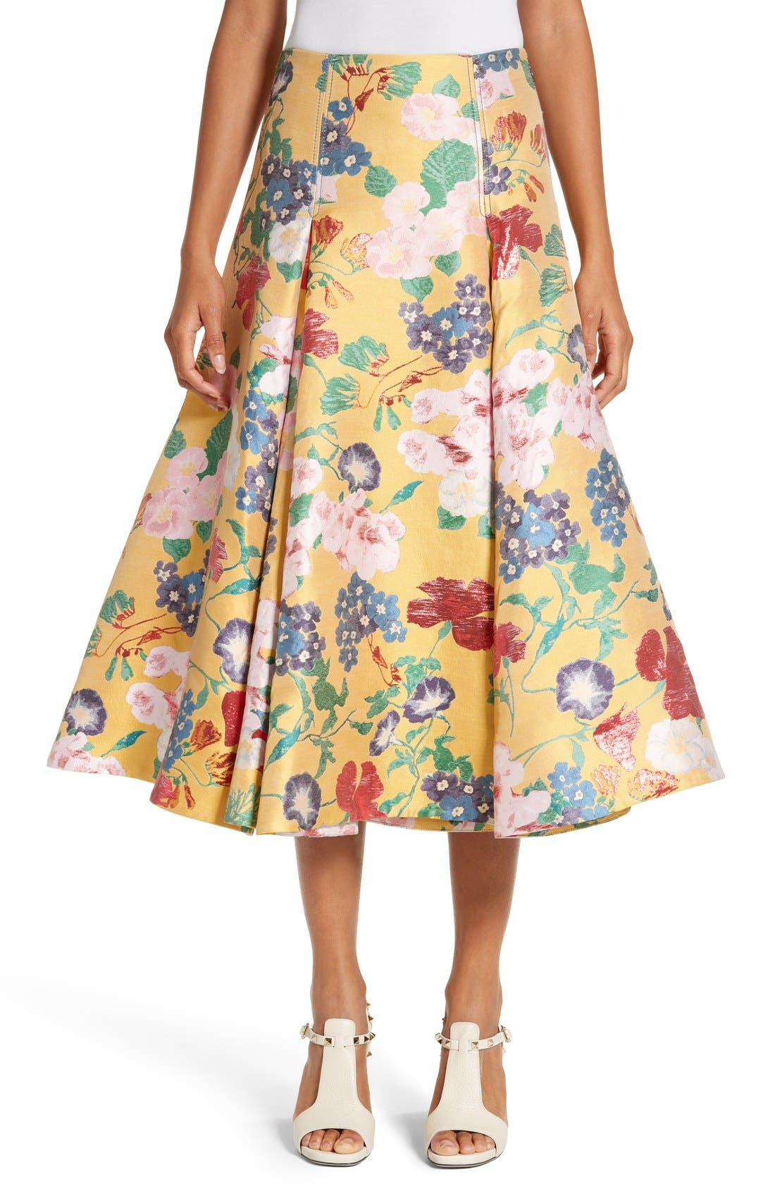 Main Image - Valentino Romantic Garden Brocade Skirt
