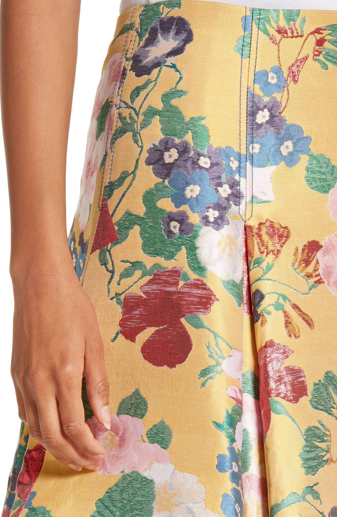 Alternate Image 5  - Valentino Romantic Garden Brocade Skirt