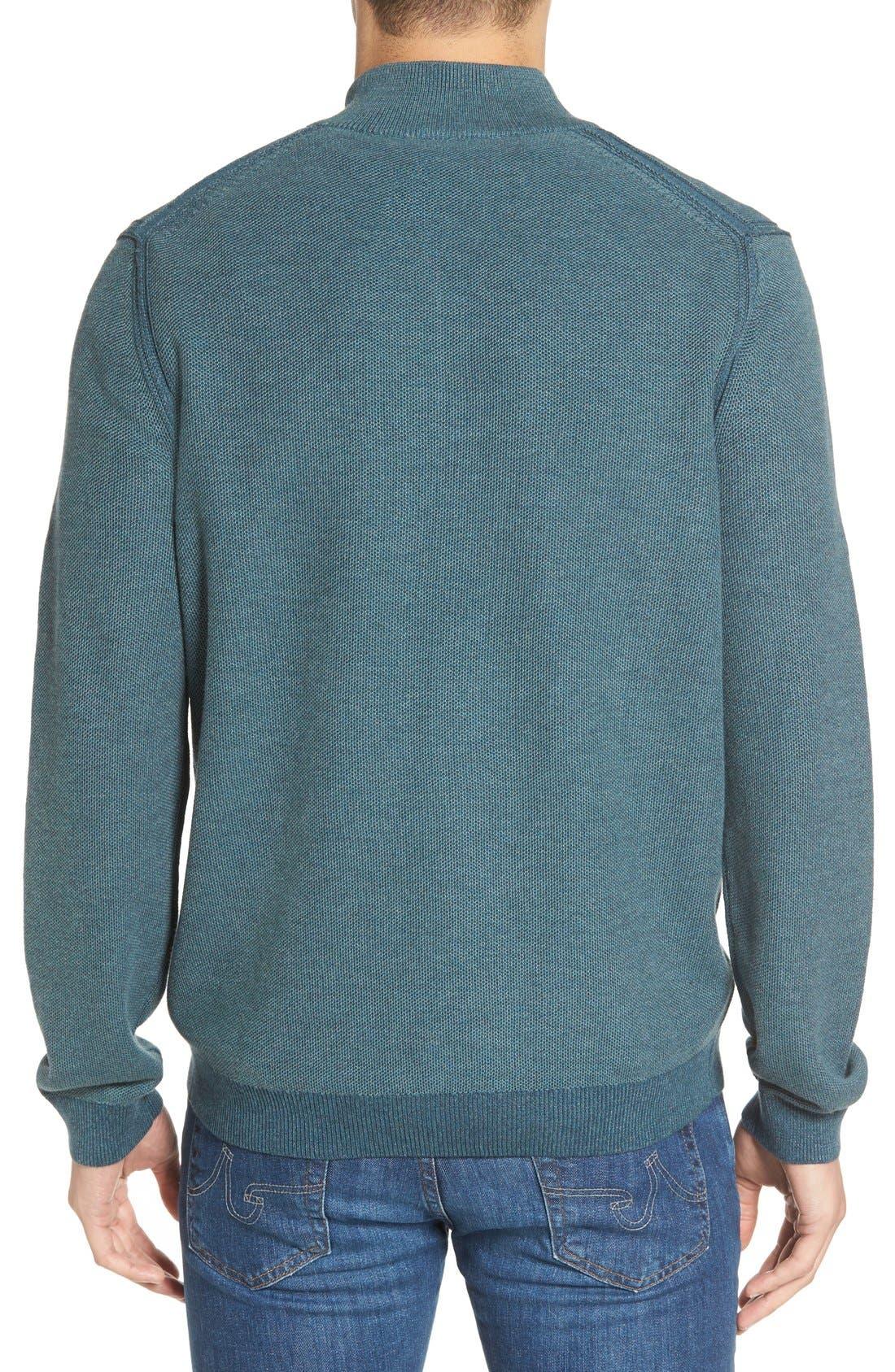 Make Mine a Double Reversible Quarter Zip Sweater,                             Alternate thumbnail 2, color,                             Seaway